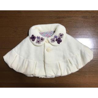 ANNA SUI mini - アナスイミニ ビジュー付きポンチョ