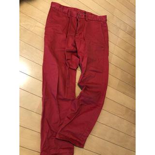 オールドネイビー(Old Navy)のオールドネイビー 赤パンツ 大きいサイズ ストレッチパンツ 赤 レッド 28(カジュアルパンツ)