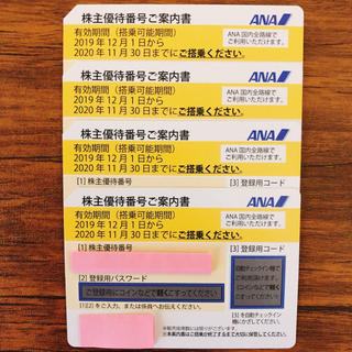 ANA(全日本空輸) - ANA株主優待券、4枚セット。