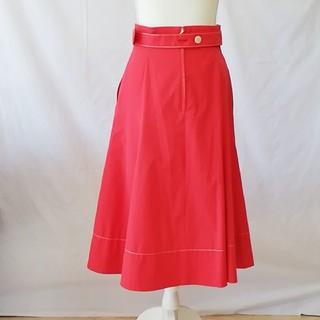 エポカ(EPOCA)の極美品エポカミモレ丈のお姉系フレアスカート、サイズ38、M。EPOCA(ひざ丈スカート)