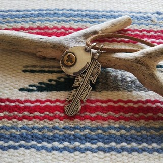 Indian - インディアンジュエリー ナバホ族 フェザー イーグル タタキ シルバーネックレス