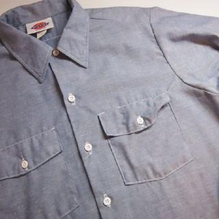 ディッキーズ(Dickies)の実寸 M USA製 Dickies シャンブレー シャツ 古着 a306(シャツ)