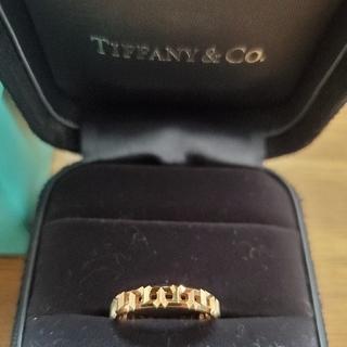 Tiffany & Co. - TIFFANY トゥルーナローリング AU750 ローズゴールド 7号