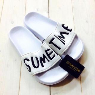 ✨セール✨ SUMMER TIME シャワー サンダル ( ホワイト )(サンダル)
