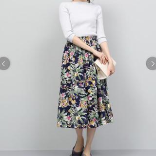 ロペ(ROPE)のROPE フラワージャガードスカート(ひざ丈スカート)