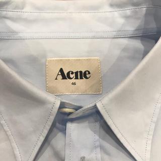 アクネ(ACNE)のACNE ブロードシャツ ブルー 46 未使用(シャツ)