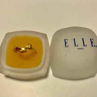 ELLE -  ELLE エル プチハートリング  18k  ルビー ダイヤ #9