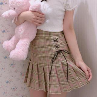 ハニーシナモン(Honey Cinnamon)のハニーシナモン チェックプリーツスカート 即完売品 新品タグ付 超レア!激安!!(ミニスカート)