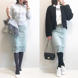 GU - GU レースタイトスカート ミントグリーン Lサイズ(通常Mサイズの方)