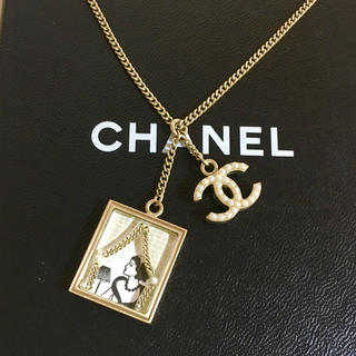 CHANEL - 正規品 シャネル ネックレス ココマーク パール チェーン 絵画 額縁 金 真珠