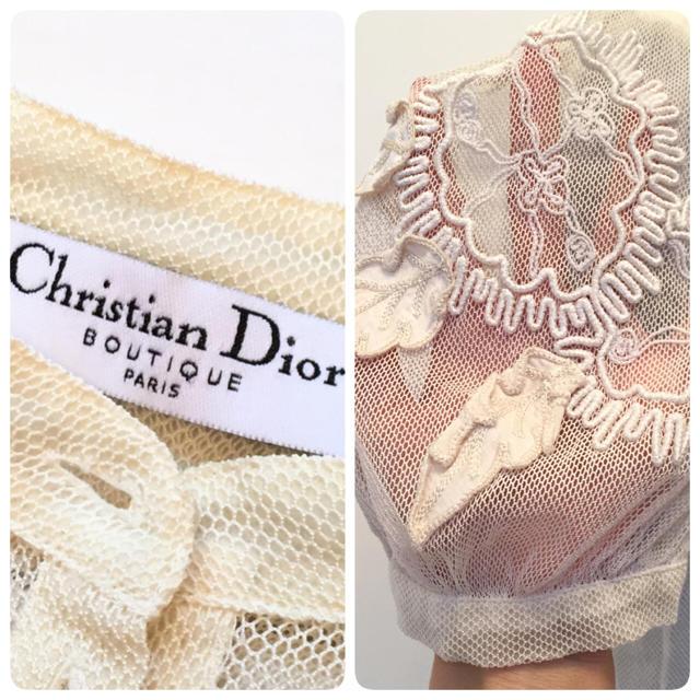 Christian Dior(クリスチャンディオール)のDior 正規品 上品レースブラウス ✨ レディースのトップス(シャツ/ブラウス(半袖/袖なし))の商品写真