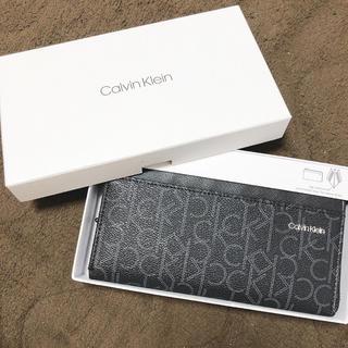 Calvin Klein - Calvin Klein 長財布 ロゴ ブラック