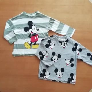 H&M - H&Mミッキー 長袖Tシャツ 2枚セット