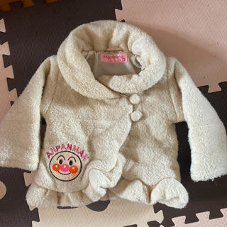 アンパンマン - アンパンマン 女の子 冬 ジャンパー コート アウター クリーム 白 ホワイト