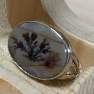 シルバーリング デンドリックアゲート(リング(指輪))