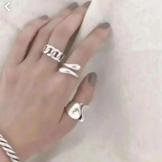 大人気商品!◆tear drop ring silver925◆3点セット☆(リング(指輪))