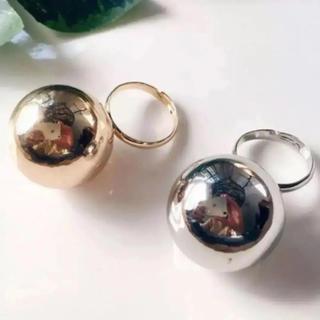 ◆今季新作◆ 超大ぶり♡豪華ぷっくりビック シルバー リング(リング(指輪))