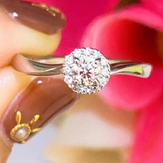 4℃ - 美品❗️4℃ プラチナダイヤリング プラチナダイヤモンドリング
