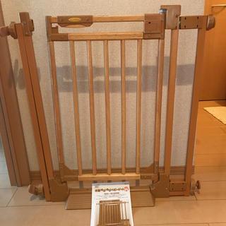 CATCH Me!木製のびのびベビーゲートW