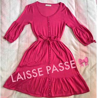 レッセパッセ(LAISSE PASSE)のレッセパッセ ニットワンピース(ひざ丈ワンピース)