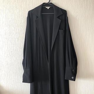 マウジー(moussy)のmoussy サイドスリットロングスプリングコート Black 新品未使用(スプリングコート)