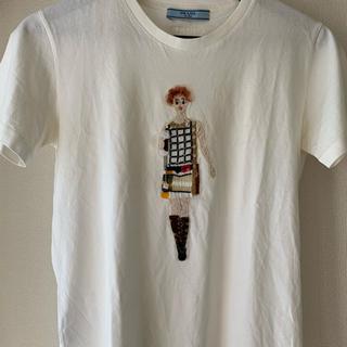 プラダ(PRADA)のPRADA スパンコールTシャツ  (Tシャツ(半袖/袖なし))