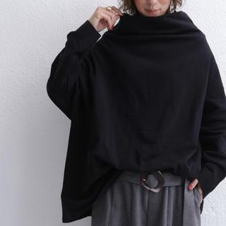antiqua - ☆★☆ アンティカ ボトルネック 裏毛トップス ブラック