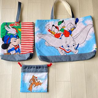 入園☆入学 レッスンバッグ&シューズ袋&コップ袋 セット(バッグ/レッスンバッグ)