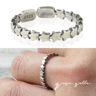 リング 指輪 プチスター シルバー925 フリーサイズ  レディース(リング(指輪))