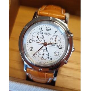 エルメス(Hermes)の美品 HERMES クリッパー クロノ 腕時計(腕時計(アナログ))