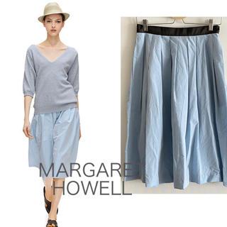 マーガレットハウエル(MARGARET HOWELL)の【特価】MARGARET  HOWELL コットンシルクブルースカート(ひざ丈スカート)