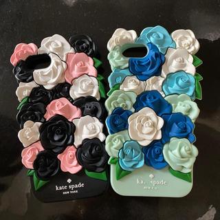 kate spade new york - iPhone7 シリコンケース 薔薇 2つセット