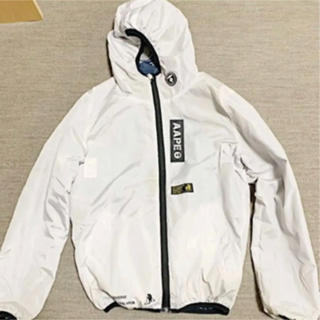 A BATHING APE - ナアメイジングエイプイロンジャケット リバーシブル 白色 迷彩柄 フード付き