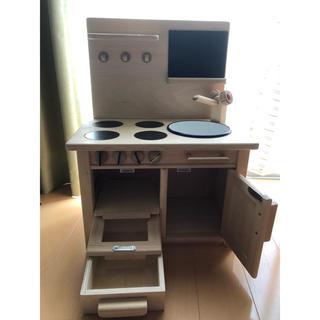 おままごと用ミニキッチン 木製 MILAN