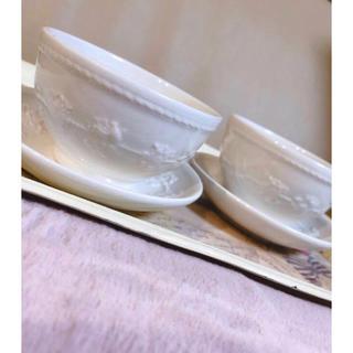 WEDGWOOD - 2客 ウェッジウッド フェスティビティジャパニーズ ティーカップ&ソーサー お茶
