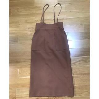 IENA - allureville   サロペットスカート サイズ2  茶色
