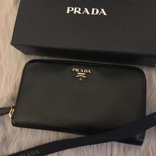 PRADA - 美品 プラダ 長財布 ラウンドファスナー
