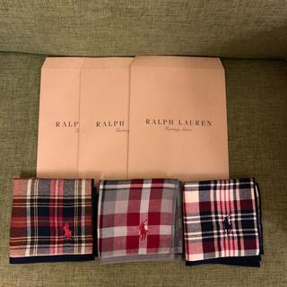 Ralph Lauren - 新品 ラルフローレン ハンカチ 3枚