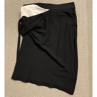 アンドゥムルメステール(Ann Demeulemeester)のann demeulemeester 変形 デザインスカート(ひざ丈スカート)