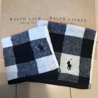 Ralph Lauren - ⑦ 新品未使用 ラルフローレン ハンカチタオル チェック 2枚セット