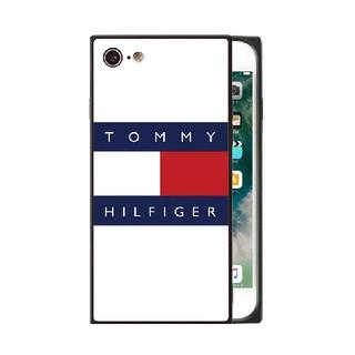 トミーヒルフィガー(TOMMY HILFIGER)のトミーヒルフィガー スクエア ガラスケース iPhoneケース rkuq(iPhoneケース)