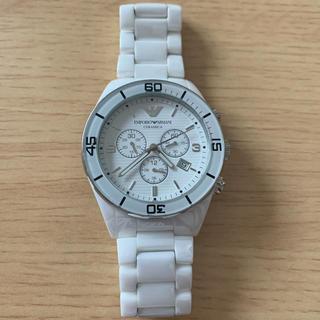 エンポリオアルマーニ(Emporio Armani)のエンポリオアルマーニ 腕時計 白(腕時計(デジタル))