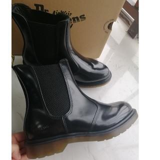 ドクターマーチン(Dr.Martens)のUK4 ドクターマーチン ブラック Dr.Martens  新品未使用(ブーツ)