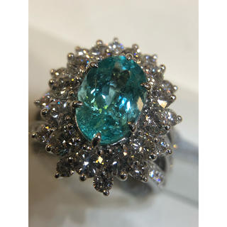 PTパライバトルマリン&ダイヤモンドリング(リング(指輪))