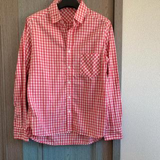 バンヤードストーム(BARNYARDSTORM)のバンヤードストーム   ギンガムチェックシャツ ブロックチェックシャツ ピンク(シャツ/ブラウス(長袖/七分))
