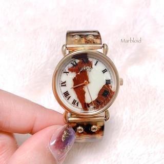 【Marbloid】DAIGEL CRAFTマーブルカラー腕時計 稼働品 美品