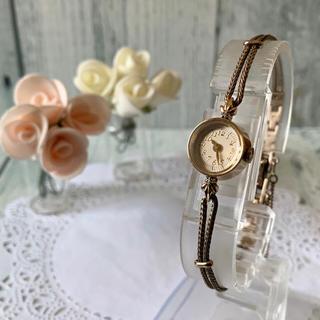 agete - 【美品】agete アガット クラシック 腕時計 0.02ct K10 ダイヤ