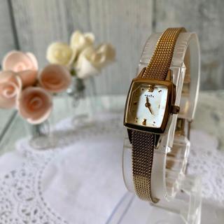 アガット(agete)の【電池交換済み】agete アガット 腕時計 0.02ct イエローゴールド(腕時計)