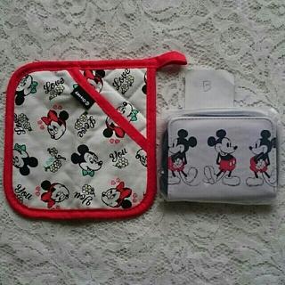 ミッキーマウス - ミッキーマウス折財布と小物敷きB