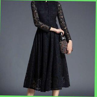 即購入OK❤️レース フレア フォーマル ワンピース ドレス レディース